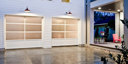 Beautiful Full Vision Window Sectional Garage Door